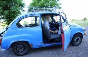 Meet Juan and his little blue car - definitely my favourite ride*