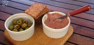 Even olives and paté as a starter*