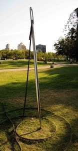 Not a needle in a haystack in a sculpture park*