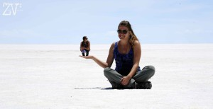 The Salt Flats are an excellent place to take warped perspective shots*