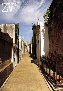 The narrow walk ways in the famous Recoleta Cemetery*